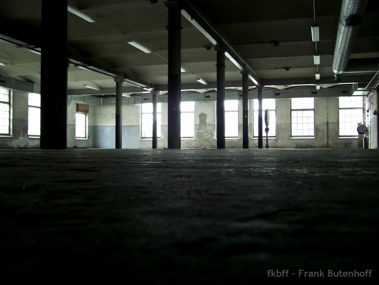 Eine leere Textilfabrik in Schweden